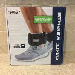 new adjustable ankle weights set 10 lbs