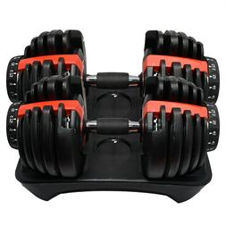 NEW Adjustable Dumbbell Dumbbells Weights 552 Set Pair 52.5l