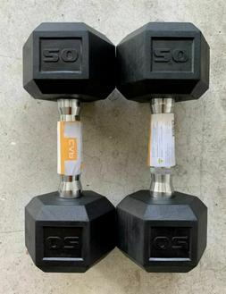 NEW CAP COATED RUBBER HEX DUMBBELLS Select Weight- 10,15, 20