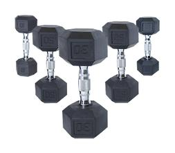 NEW CAP COATED RUBBER HEX DUMBBELLS select-weight 5,10,15, 2