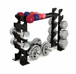 NEW Compact Dumbbell Rack Free Weight Stand Capacity Home Gy