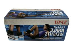 NEW Pair of 2.5lb Ankle Weights Comfort fit by SPRI-In hand