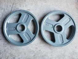 NEW Two 25 lb Weider Olympic Grip weight plates pair 50lbs t