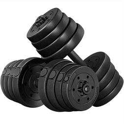Weight Dumbbell Set 66 LB Adjustable Cap Gym Home Barbell Pl