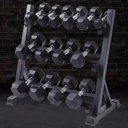 New Weight Dumbbell Set Adjustable Cap Gym Barbell Plates Bo