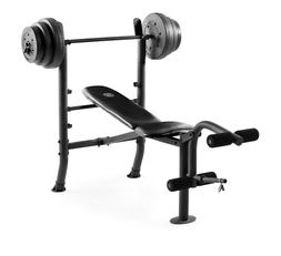 NEW Weight Lift Bench Set With Weights And Bar 100 Press Wor