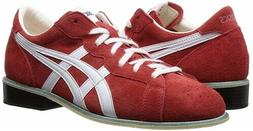 NEW ASICS Weight Lifting Shoes 727 Red White Leather US6-US1