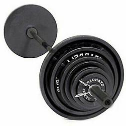 Olympic Bar And Weights Set Barbell Plates Bench Press Dead