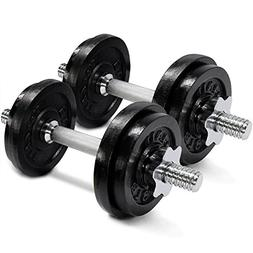 One Pair of 40lbs Cast Iron Adjustable Dumbbells