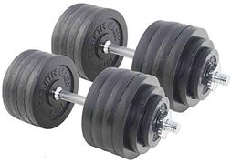 Pair Adjustable Cast Iron Dumbbells Weight 200 lb Kit Set To