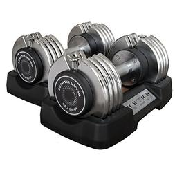 Bayou Fitness Pair of Adjustable 50 lb Dumbbells