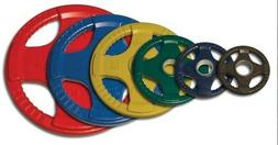 18-Pc Color Rubber Grip Olympic Plate Set