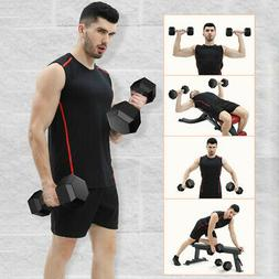 Rubber Hex Dumbbell Pairs Free Weights Home Gym Cast Iron St