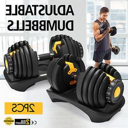 SelectTech 552 Adjustable Dumbbells Weight Sets Exercise Equ