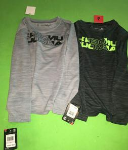 Under Armour Shirts Boys Size 6 Black Gray Neon New Light We
