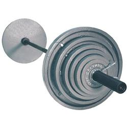 Troy USA Sports OSS-300B Gray Olympic Plates with Black Olym