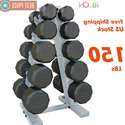 Weight Dumbbell Set With Rack Dumbell 5 10 15 20 25 LB Pairs