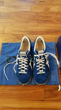 ASICS Weight Lifting Shoes 727 Blue White Leather TOW727 Sel