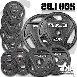 """Weight Plates 200lb Olympic 2"""" Cast Iron Grip Home Gym Fitne"""