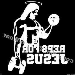 weight training tee REPS FOR JESUS T SHIRT lifting Bro Scien