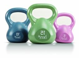 Marcy Hers Weighted Kettlebell Set for Circuit Training and