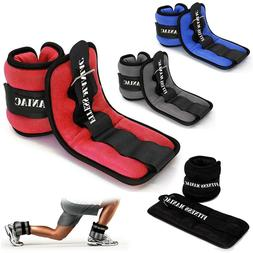 Wrist Ankle Weights Pair Adjustable Strap for Leg Arm Home G